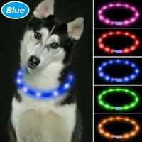 Buy cheap TPU Cuttable LED Dog Collar USB Rechargeable , LED Reflective Dog Collar 6 Colors Available product