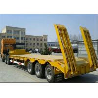 Buy cheap Low Bed Trailers with 3Pcs FUWA Brand Axles / flat bed trailer product