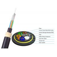 Buy cheap ADSS Double Jacket Optical Fiber Cable 200m Span G652D FOYC / Corning Fiber product