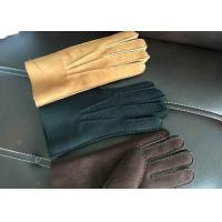Buy cheap Handsewn Beige Warmest Sheepskin Gloves S M L XL For Protective Fingers product