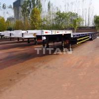 Buy cheap 56m Wind Turbine Blade Trailer for Windmill Turbine Blade Transport product