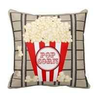 Buy cheap Movie Theater Throw Pillow Covers Vintage Cinema Poster Design Cushion Cover Home Decorative Pillowcases (Vintage Cinema product