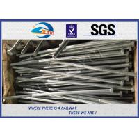 Buy cheap Railway Structural bolt with nut Hot Dip Zinc with 24x900mm 45# material product