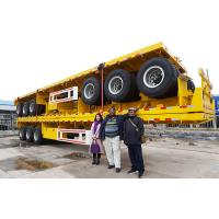 China TITAN 3 Axle 40 Feet Drop Container Flatbed Semi-Trailer For Sale on sale
