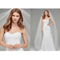 Buy cheap Long Train Tull A Line Style Wedding Dresses With Hand Made Beading Sexy Strapless product