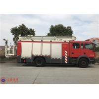 Buy cheap Short Adjustment Time 4x2 Drive Aerial Ladder Fire Truck 25 Meters Max Height product