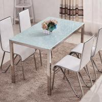 Buy cheap Toughened Glass Top Dining Room Table For Home / Restaurant Decoration blue color product