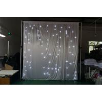 Buy cheap 2018 LED velvet curtain LED fabric drape curtain for wedding drapery stage from wholesalers