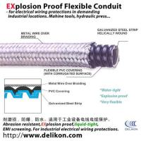 Quality water proof Braided Flexible metallic Conduit protects cable from hot swarfs for sale