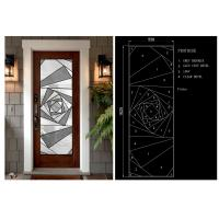 Buy cheap Home Decorative Glass Panels, Brass Nickel  Patina Decorative Glass from wholesalers