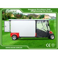 Red 2 Passenger 48V  Electric Ambulance Car For Emergency Closed Type