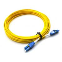 Buy cheap 10M LC UPC To LC UPC Single Mode Patch Cord Flat Clip Uniboot Duplex OS2 500 Cycles product