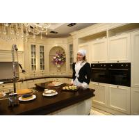 Buy cheap High quality villia project burgunty classical Kitchen cabinet with cheap price BS8029KC product
