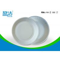 Buy cheap White Color Eco Friendly Paper Plates 6 Inch For Birthday Celebrations product