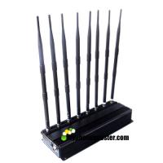 Buy cheap AC100-240V 8 Antennas 20w Adjustable Mobile Phone Signal Jammer Lojack/WiFi/VHF/UHF Jammer Up To 40m Jamming Range product
