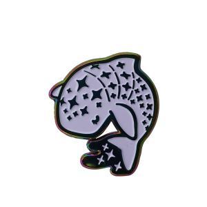 Buy cheap Custom Rainbow Plating Enamel Lapel Pin Badge Of Soft Enamel Color Lapel Pins from wholesalers