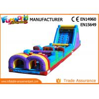 Buy cheap 0.55 MM PVC Tarpaulin Inflatable Obstacle Course ,  Inflatable Climbing Wall And Slide from wholesalers