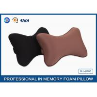 Buy cheap Black Colour Memory Foam Car Neck Pillow , Auto Head Support Cushion product