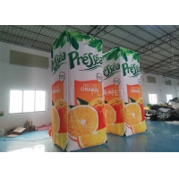 Buy cheap Orange Juice Drink Inflatable Advertising Bottle For Event product