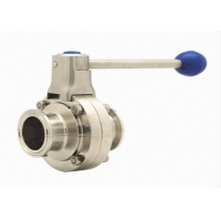 Buy cheap 316L Tri Clamp Double Flanged Butterfly Valve Stainless Steel 304 product