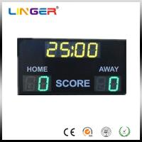 Buy cheap Outdoor 10'' 254mm Digit Green / Yellow Electronic Soccer Scoreboard from wholesalers