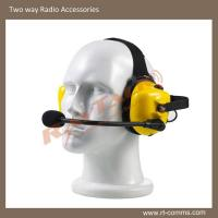 Yellow heavy duty/noise cancelling headset for two way radios B-50YQ