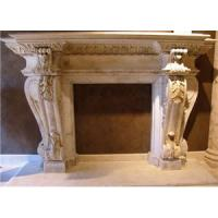 Buy cheap Indoor Natural Stone Fireplace,Marble ,Granite Fireplace,Fireplaces.Stone carving product