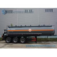 China Sodium Hydroxide Solution Chemical Tank Trailer , 20 m3 Carbon Steel Tank on sale