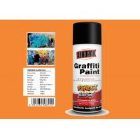 Buy cheap MSDS Graffiti Spray Paint , Outdoor Spray Paint With  Orange Yellow Color product