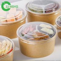 Buy cheap Eco-friendly Disposable heat-resistant Kraft Paper hot food bowl from wholesalers