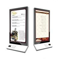 China 32 Inch Wall Mounted Touch Screen Kiosk Food Self Service Kiosk Bulit In POS System on sale