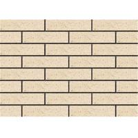 Clay Exterior Thin Brick Veneer , External Brick Tiles Rough Surface