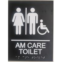 "Disabled Custom Restroom Signs 1/32""  White Raised Tactile Text  Grade II"