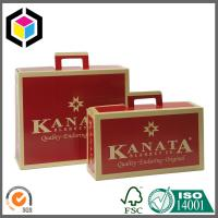 Paper Handle Custom CMYK Full Color Offset Suitcase Style Corrugated Box