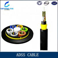 China ADSS 32 strands Fiber Optic Cable Self-Supporting 4f singlemode fiber optic cable on sale