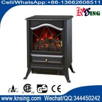 Buy cheap resin logset electric fireplace heater log burning flame effect antique electric stove ND-18D2P cheap space heater product