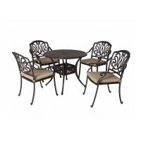 Buy cheap Vintage Metal Stool Cast Iron Table And Chairs Powder Coated And Painting product