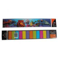 Quality Custimized PET Material 3D Stationery Lenticular Ruler With LOGO Printing For School & Office Supplis for sale