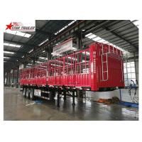 Buy cheap Cargo Stake Side Wall Semi Trailer 60T Heavy Duty Load With Longer Service Life product