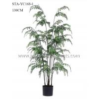 Buy cheap Eco Friendly Potted Silk Ferns Iron Wire Plastic Natural Looking Low Maintance product