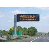 China Fixed Electronic LED Traffic Display Full Color  Brightness ≥ 7500 cd/sqm on sale