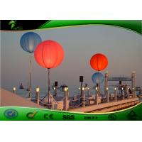 Buy cheap Colorful Inflatable Lghting Decoration Stand LED Balloon For Party 6mH product