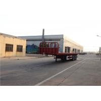 China 3 Axles Steel Flatbed Semi Trailer Mechanical Suspension Leaf Spring 13mmx90mm on sale