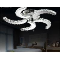 Buy cheap 2015 New modern lustre Led crystal ceiling fan lights  home decorative lighting lamps product