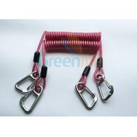 Buy cheap High Strength Strong Coil Tool Lanyard Transparent Red PU Material Cover product