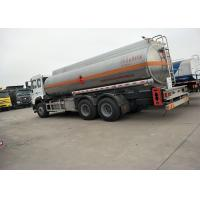 Buy cheap 10 Wheels 336HP 18M3 Oil Tanker Truck For Oil Transportation , White Color product