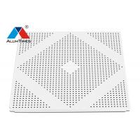 Buy cheap Acoustic Aluminum Drop Ceiling Tiles With Fireproof Nonwoven Sheet product
