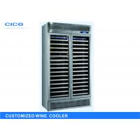 Silent Compressor Wine Cooler Blue LED Display High Efficient Evaporator