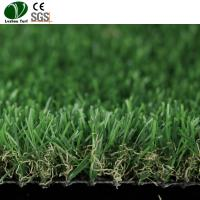 Buy cheap Twine Artificial Turf Plastic Lawn Grass / Green Plastic Carpet 25mm Pile Height product