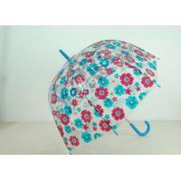 Compact Transparent Birdcage Dome Umbrella8 Ribs Curved Handle Durable Windproof